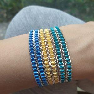 Handmade set of wrap bracelets